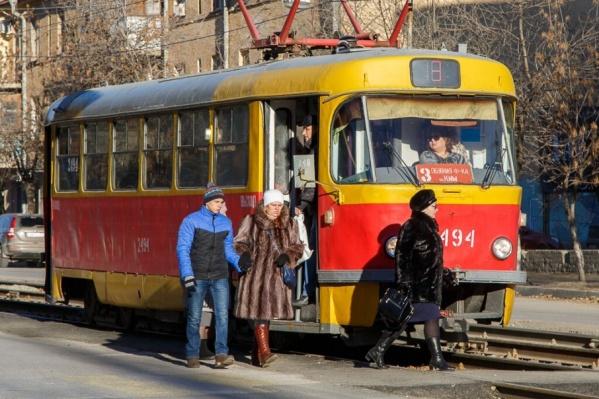 Трамваи в данный момент следуют по укороченным маршрутам