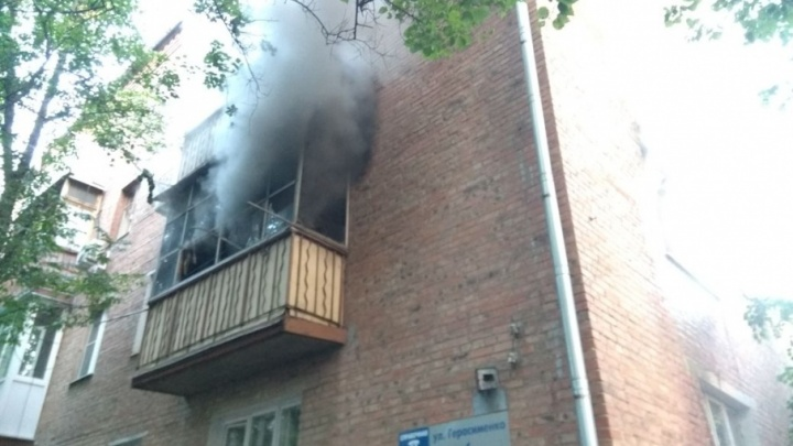 На улице Герасименко загорелась квартира парализованной женщины