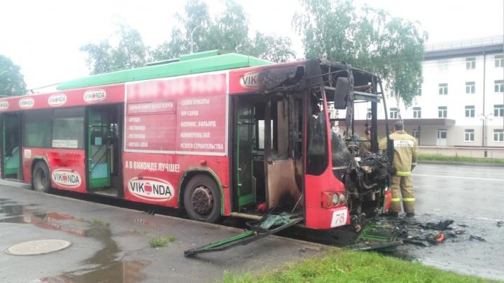 В Рыбинске на ходу загорелся троллейбус