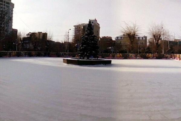 Волгоградские катки страдают из-за резкого потепления