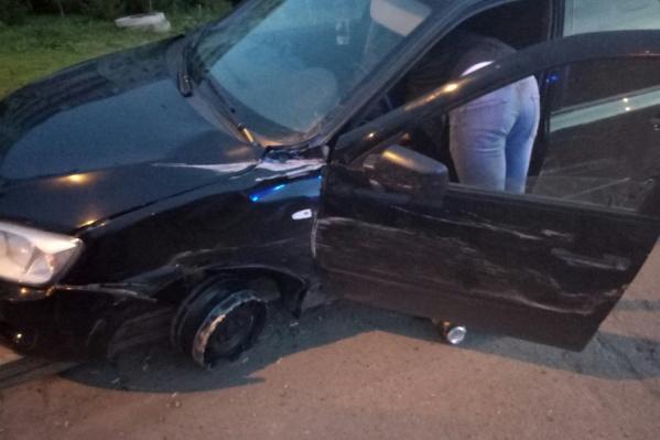 За рулем Lada Granta находился пьяный водитель, лишенный прав