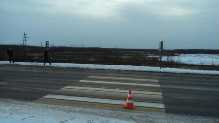 Около аэропорта Талаги водитель иномарки сбил пешехода на переходе