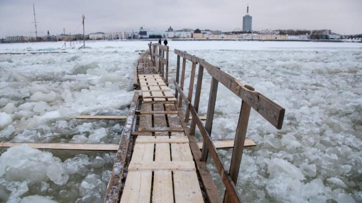 В Архангельске закрылась ещё одна ледовая переправа