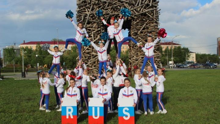 Пермские чирлидеры поддержали сборную России флешмобом Ольги Бузовой