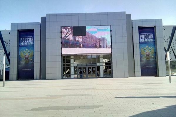 На входе в музей «Россия — моя история» появился черный квадрат