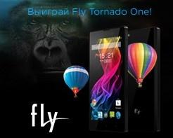 Выиграй смартфон Fly Tornado One!