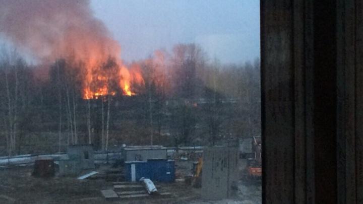 Столб огня высотой с многоэтажку: в Ярославле полыхает расселённый дом