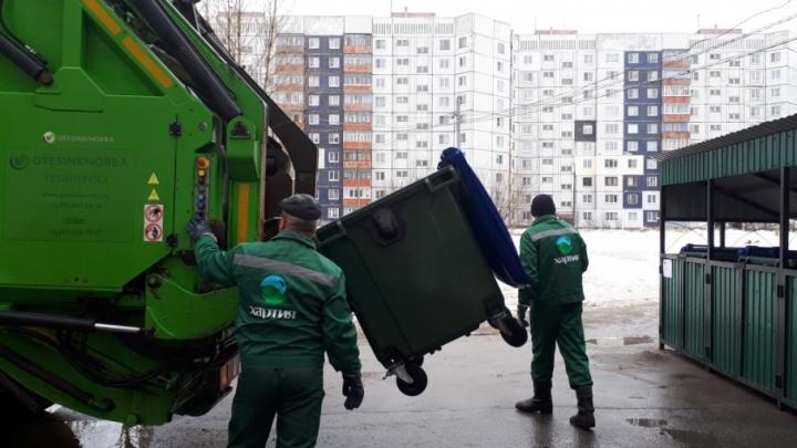 Сбор мусора по-новому: в Брагино появились бесшумные мусорные баки