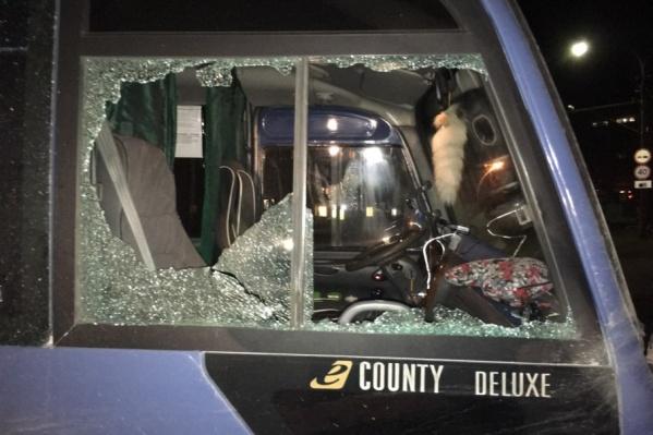 В Краснокамске обстреляли автобусы