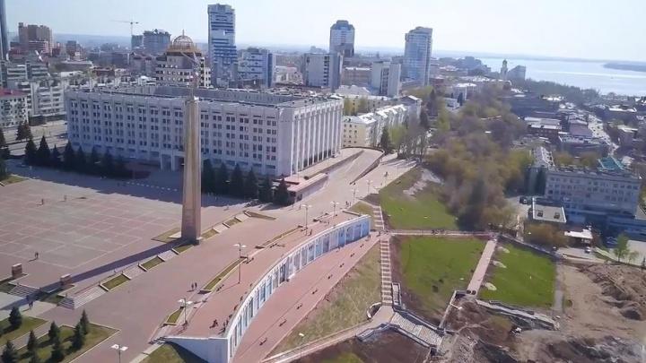 Еще больше фонтанов и плитки: на реконструкцию спуска площади Славы добавят 59 млн рублей