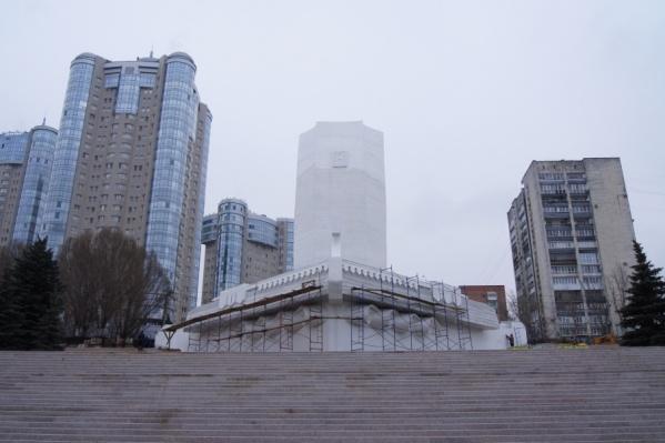 Монумент защитили специальным составом
