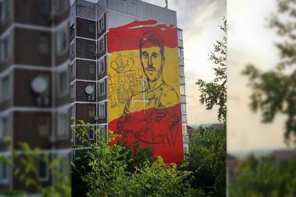 Огромный портрет на площади 384 квадратных метра должны нарисовать за 4 дня