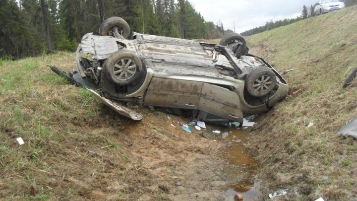 В Виноградовском районе водитель «Рено», съехав  на обочину, получил травмы головы