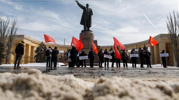 Бойкотировать итоги выборов пришли всего 20 волгоградских коммунистов