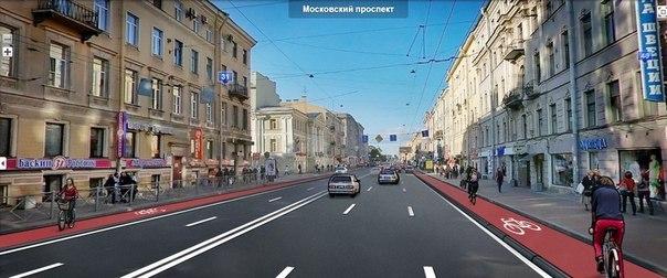 Московский проспект. Автор иллюстрации - Ольга Боева