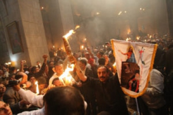 Огонь прибудет в Успенский собор