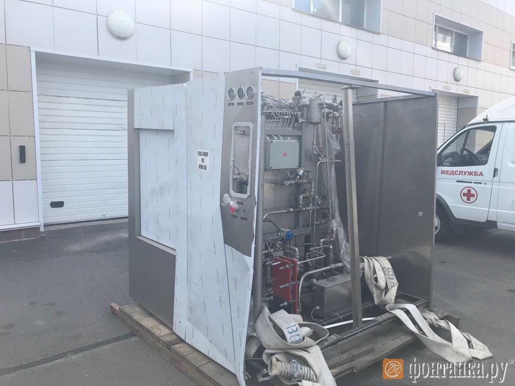 Не функционирующая установка обеззараживания медотходов Tettnauer, закупленная для Боткинской больницы