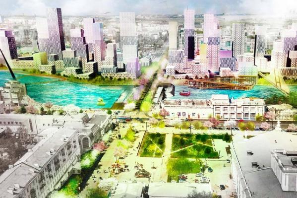 Так, по проекту голландской компании De Architekten Cie, будет выглядеть набережная реки Миасс