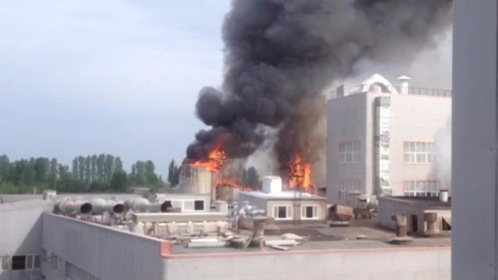 В Миллерово на заводе «Амилко» вспыхнул пожар, есть жертвы