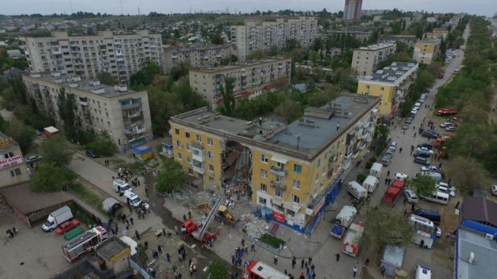 V1.ru снял взорвавшийся в Волгограде дом с квадрокоптера