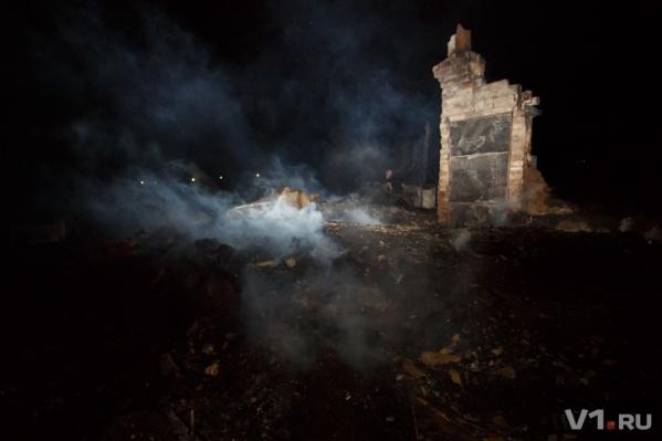 От домов в Качалино осталось только пепелище