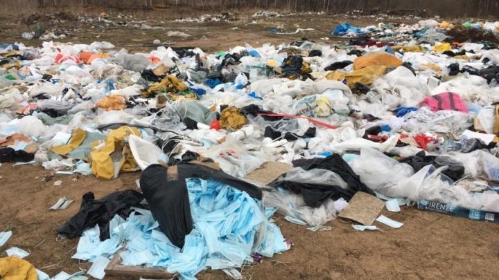 Шкуры животных и медицинские отходы: за Волгой обнаружили гигантскую опасную свалку