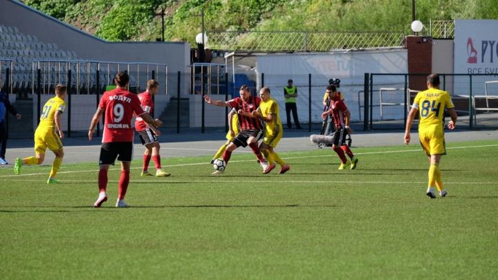После первого тайма «Амкар» играет вничью с «Ростовом»