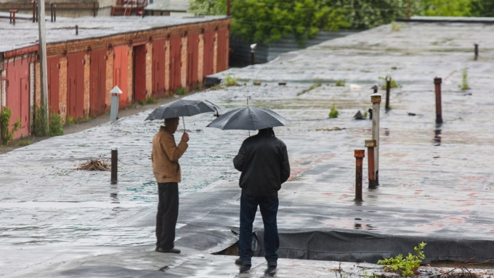 Непогода в Тюмени: потопы, поваленные деревья и массовое ДТП