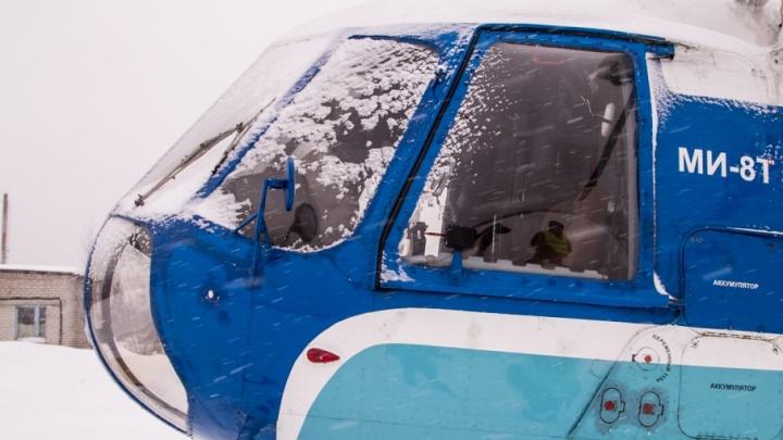 В Поморье с помощью вертолета санавиации спасли пенсионера