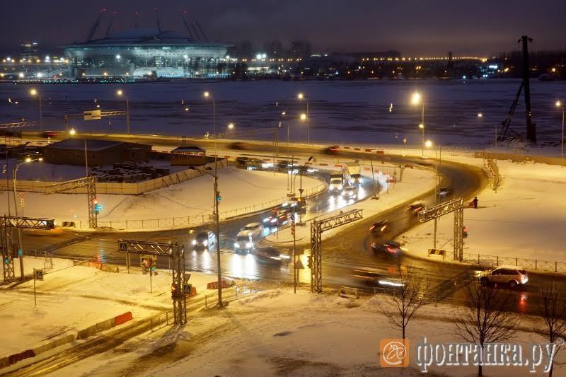 Развязка на Морской набережной утром 5 декабря