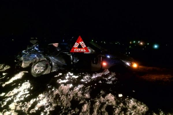 В Перми столкнулись два Hyundai Solaris