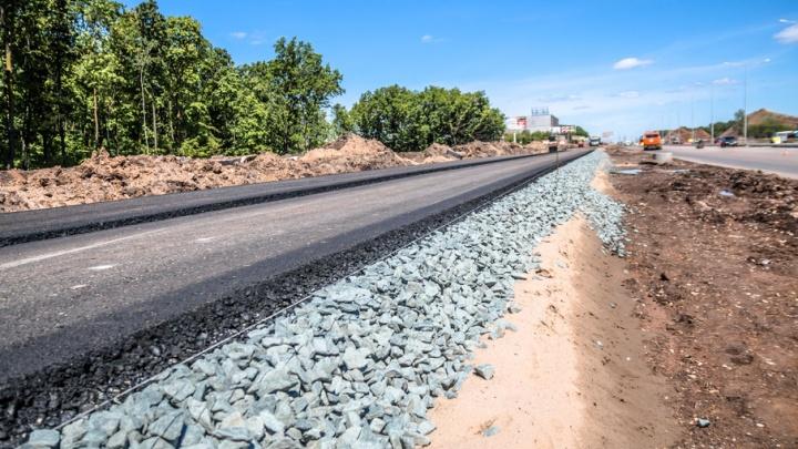 Готовность реконструкции проезжей части Московского шоссе в Самаре составляет 60%