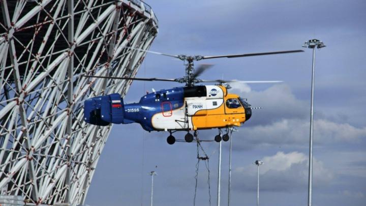 Волгоградская непогода помешала работе вертолета на новом стадионе