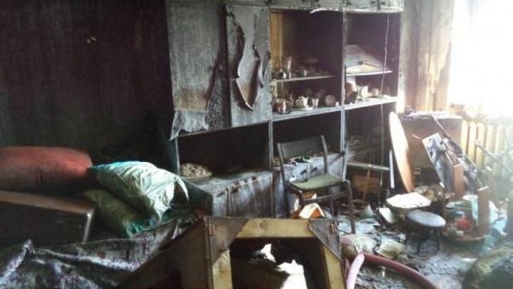 В Няндоме пожилая женщина спасла внуков, но погибла при пожаре