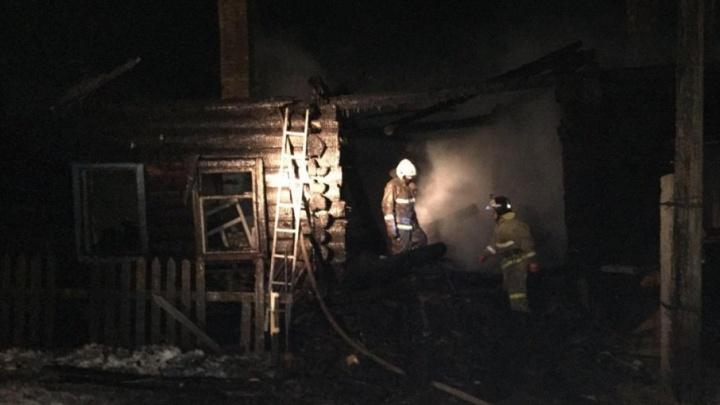 В Кунгурском районе на пожаре погибли двое детей