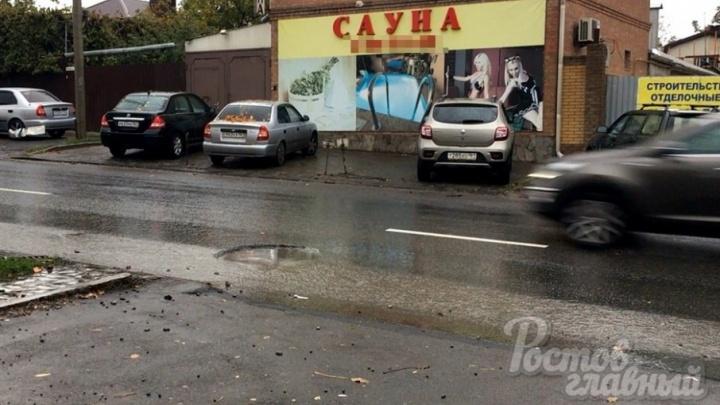 «Грыжи на покрышках и вмятины на дисках»: десятки машин пострадали из-за ямы на Плиева