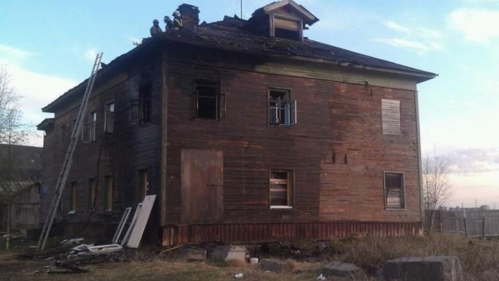 В Соломбале загорелся нежилой дом