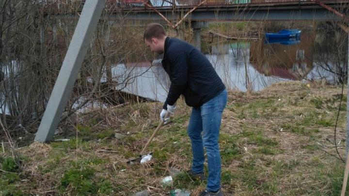 Соломбальский округ очистили от трех несанкционированных свалок