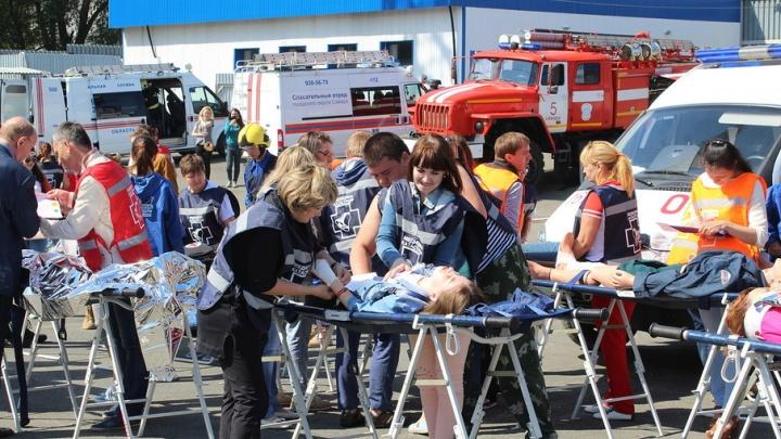 В Самаре медики отрепетировали «наплыв» пострадавших во время ЧМ-2018