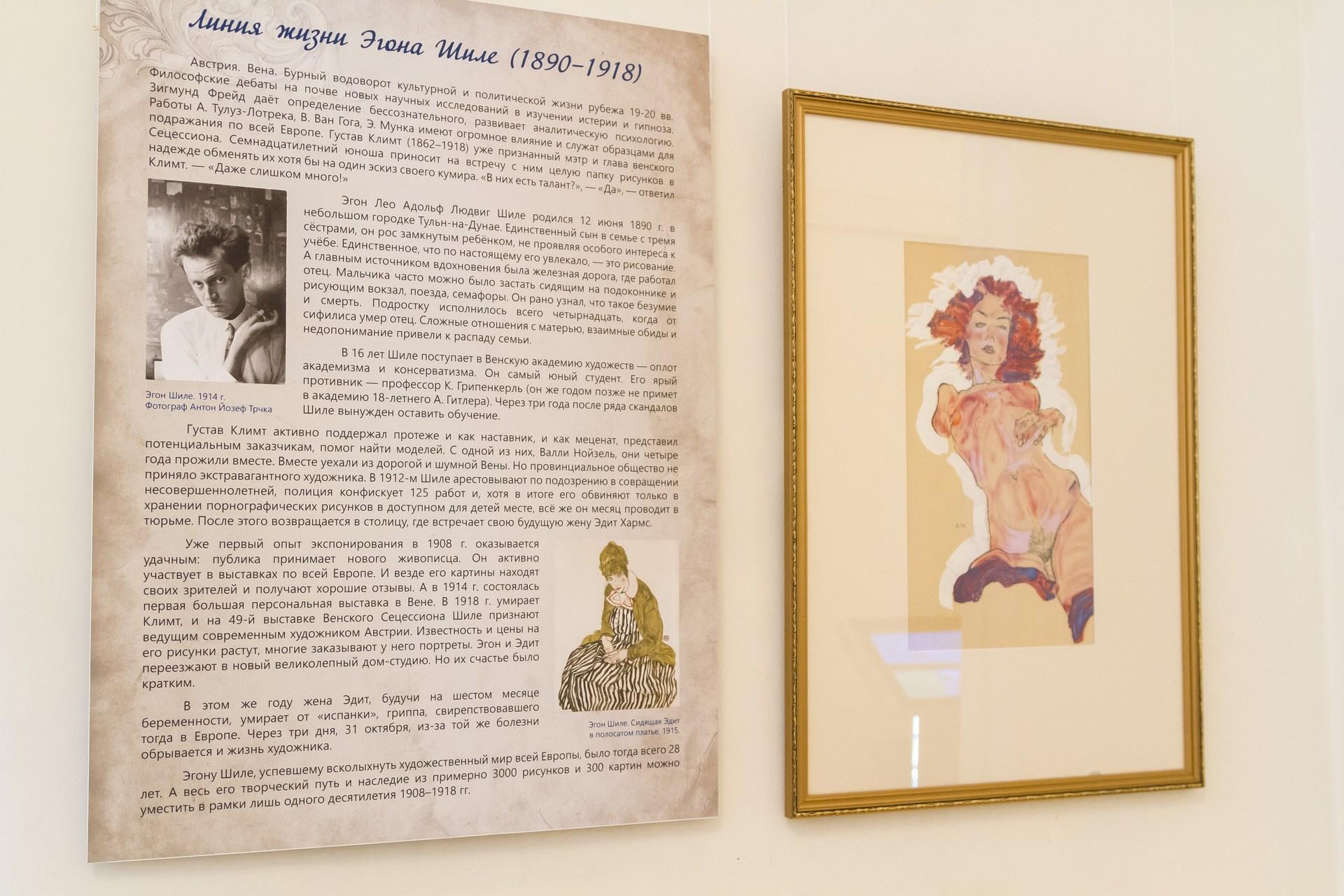 Шиле написал свой автопортрет в обнаженном виде