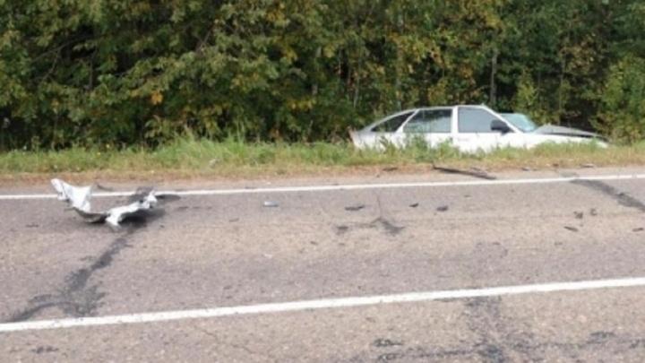 В Прикамье водитель легковушки погиб от прицепа КАМАЗа