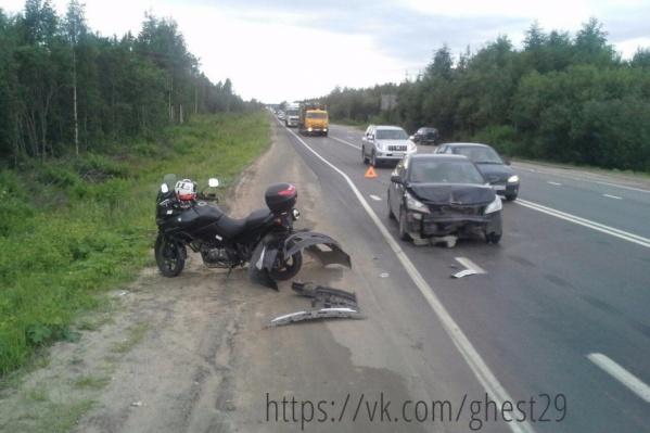 Hyundai и Kawasaki не смогли поделить дорогу
