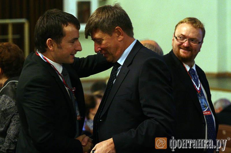 Терентий Мещеряков, Юрий Гладунов и Виталий Милонов