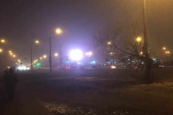 С понижением температуры воздуха Тюмень окутал туман
