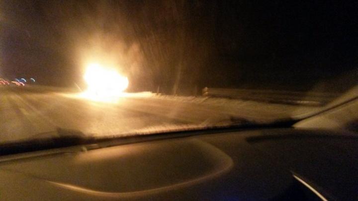 В Тюмени за день сгорели два автомобиля