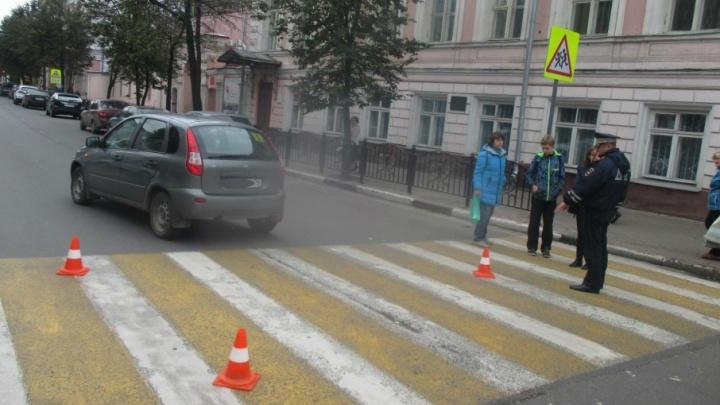 В центре Ярославля начинающий водитель сбил 12-летнего мальчика
