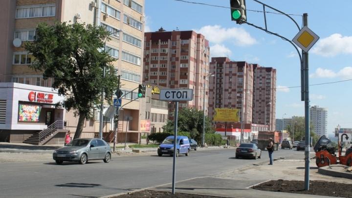 В Самаре светофор на пересечении Дыбенко/Карбышева стал звуковым