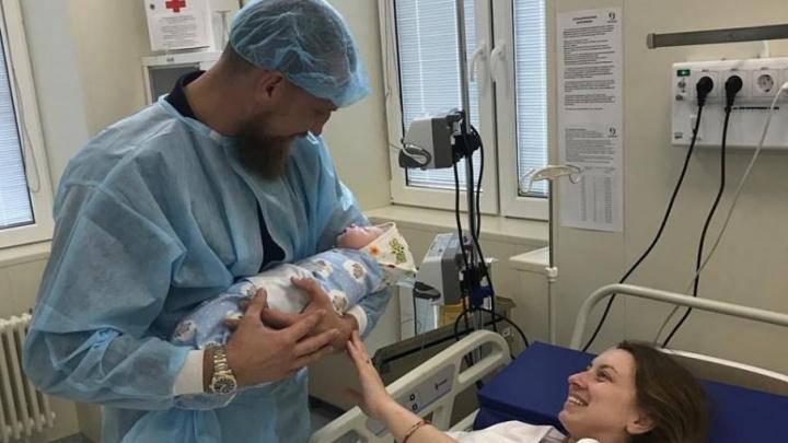 Супруга донского боксера Дмитрия Кудряшова родила ему сына