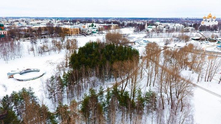 В Ярославле предложили заставить ларьками парк на Подзеленье