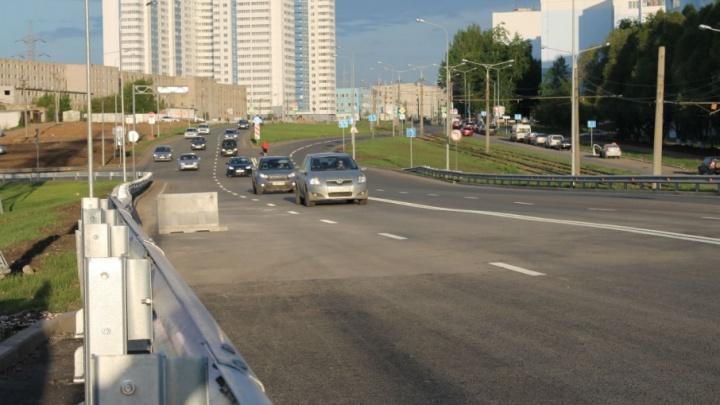 Дорога с видом на стадион: в Самаре открыли движение по развязке на Ташкентской